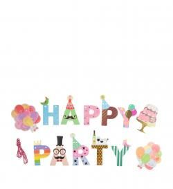 Гирлянда буквы Happy Party